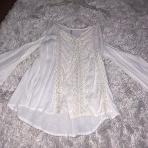 Xhilaration White Lace Off the Shoulder Top